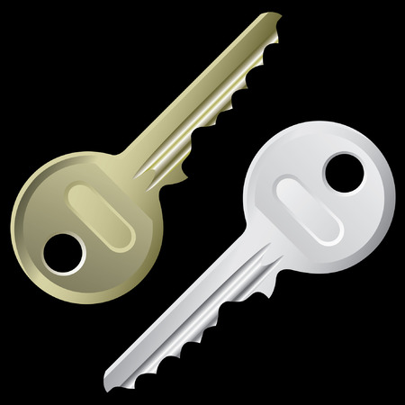 hackers: Keys - a set of keys isolated on a black background