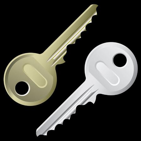 keys isolated: Llaves - un conjunto de claves aislado en un fondo negro