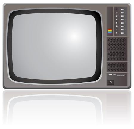 kumpel: Alte Farb-Fernseher isoliert auf einem wei�en Hintergrund