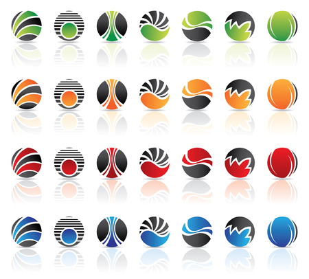 Round logos to go with your company name Vector