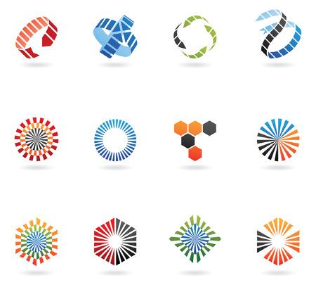 curvas: logos para ir con el nombre de su empresa (de 12)