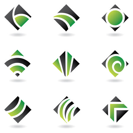 green logos to go with your company name Illustration