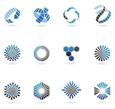 flecha azul: logos flecha azul para ir con el nombre de su empresa (de 12)  Vectores
