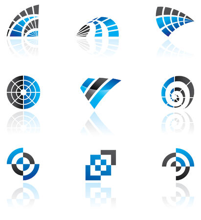 Various blue logos to go with your company name Vector