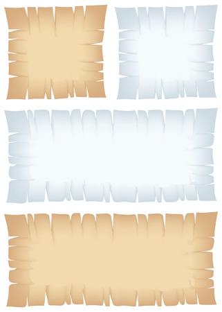 parchment texture: Torn bandiere pirata per sfondi e mappe