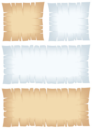 Torn banners for backgrounds and pirate maps Vector