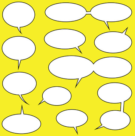 lots of speech bubbles for your comics Vector