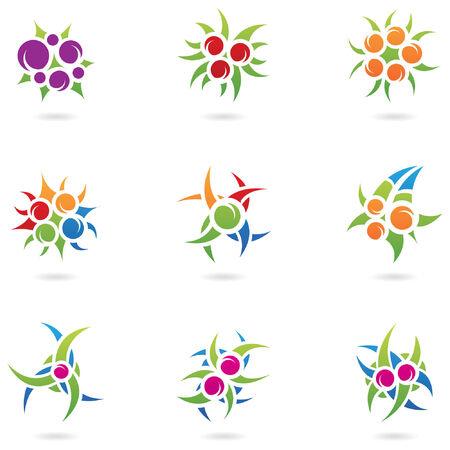 moras: elementos de dise�o gr�fico y las plantas as� como los logotipos