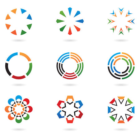 colourful abstract icons and design elements 02 Vector