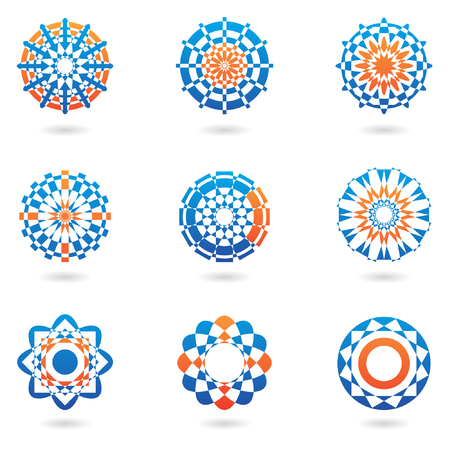 abstract colourful icons and ornaments Vector