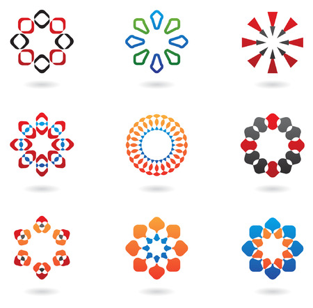 colourful abstract icons and design elements 01 Vector
