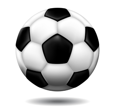 leather soccer ball isolated on a white background Vector