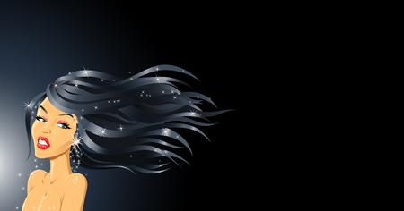 pelo ondulado: la moda con una ni�a de cabello ondulado estilo