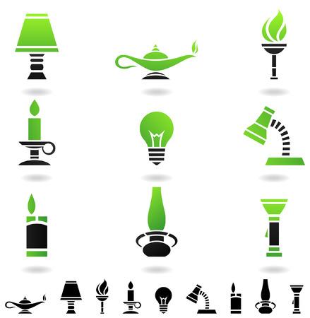 encendedores: primitivo y moderno objetos fuentes de luz