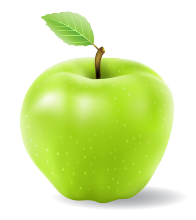 green apple vector isolated on a white background