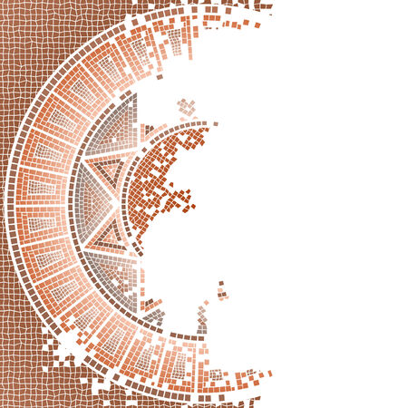 Antique worn out mosaic vector and background Vector