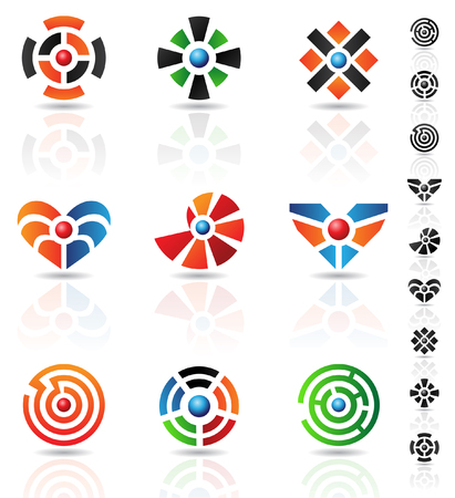 abstract geometrical shapes and graphic design elements Vector