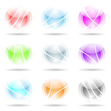 abstract design elements: vibrant, transparent, spheres isolated on white Stock Vector - 5221798