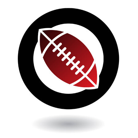 red american football isolated on white Stock Vector - 7262132