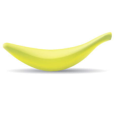 Banana isolated on white Vector