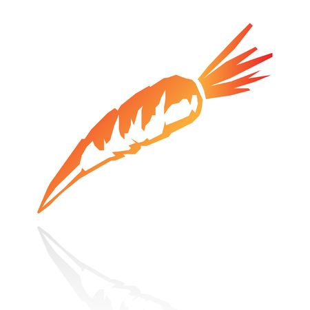 Line art carrot isolated on white Vector