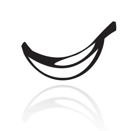 Line art banana isolated on white Stock Vector - 7268583