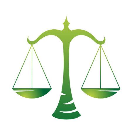 balanza justicia: Libra de zod�acos aislado en blanco  Vectores