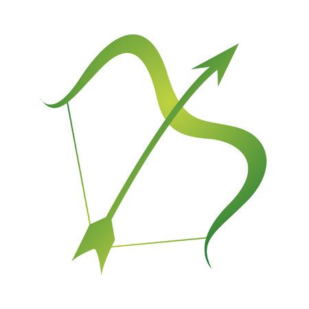 Sagittarius zodíacos aislados en blanco  Ilustración de vector