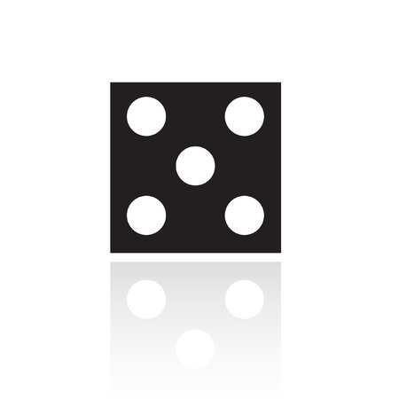 Black dice isolated on white Vector