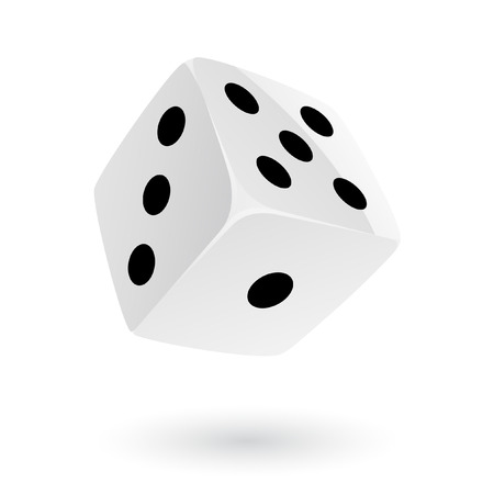 Dice isolated on white Stock Vector - 7268605