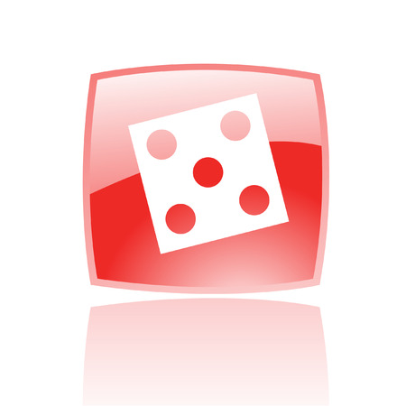 odds: Red dice isolated on white