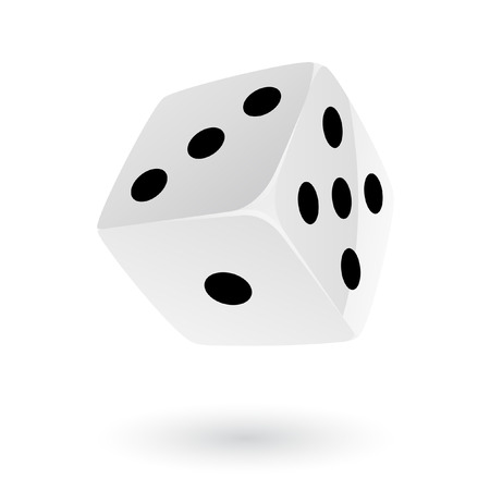 White Dice isolated on white Stock Vector - 7268604