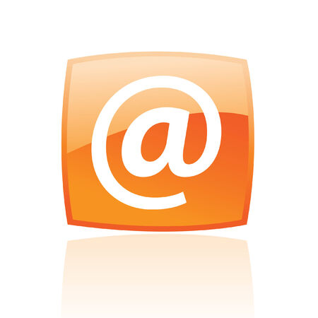Orange email isolated on white Stock Vector - 7268572