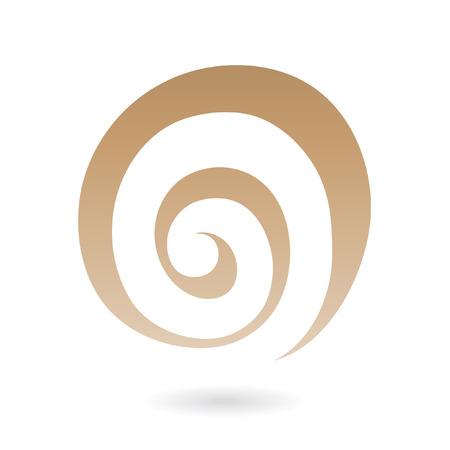 Icono de abstracta galaxia espiral aislado en blanco
