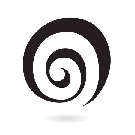 Abstract spiral galaxy icon isolated on white Vector