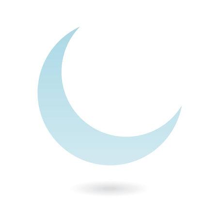 crescent: Blue moon isolated on white Illustration