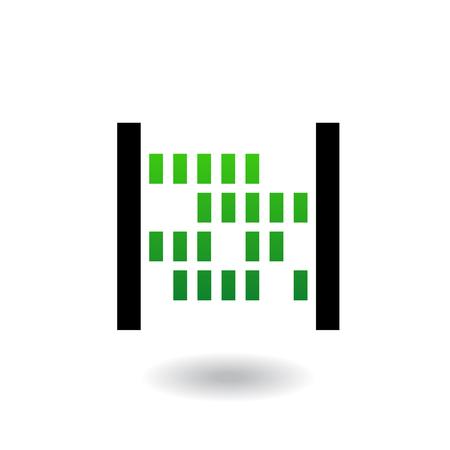 syndication: �baco con abalorios verdes y cuerpo negro aislados en blanco