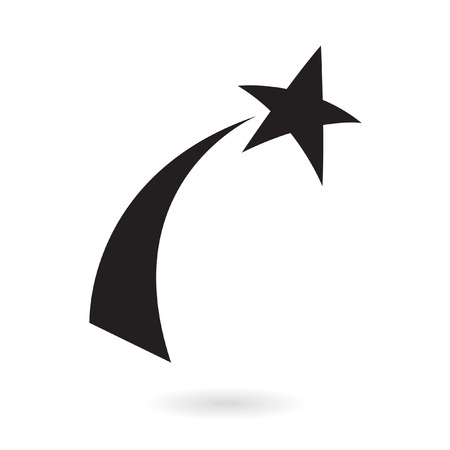 Black shooting star isolated on white Stock Vector - 7276432