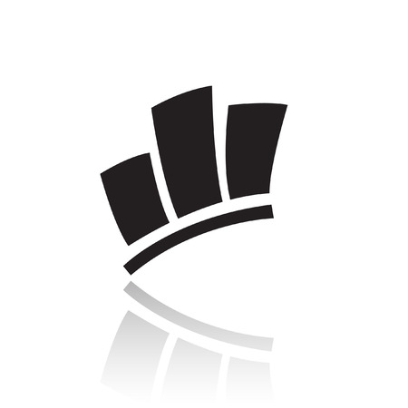 desarrollo econ�mico: Icono de estad�sticas negro aislado en blanco
