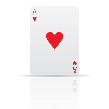 ace of hearts: Suit diamonds card isolated on white