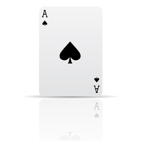 ace of spades: Suit spades card isolated on white