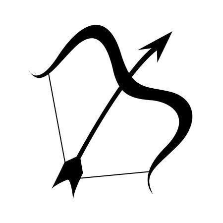 sagittarius: Sagittario Scammer nero isolata on white
