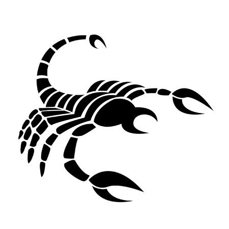 poison sign: Black scorpio isolated on white