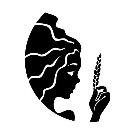 virgo: Virgo negro aislados en blanco