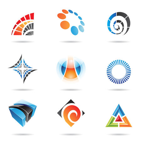 Various colorful abstract icons, set 5 Vector