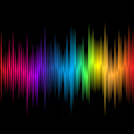 Abstract rainbow colours on a black background Vector