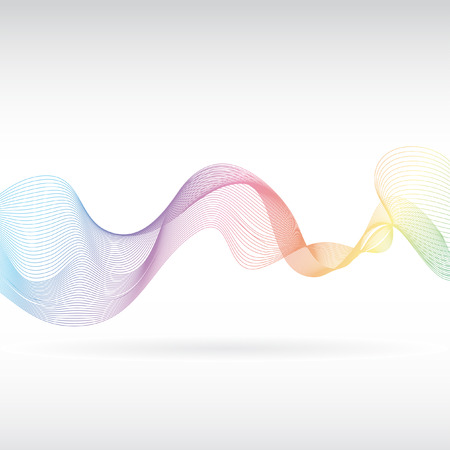 An abstract rainbow smoke design Vector