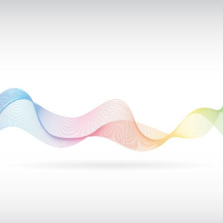 An abstract rainbow smoke design Vector