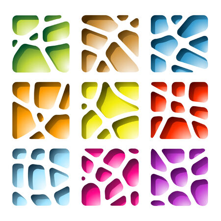 Paper Cutouts in various colors  Vector