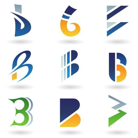Ilustraci�n de vector de iconos abstractas basada en la letra b Foto de archivo - 9866955